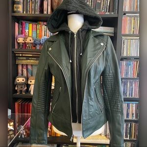 Guess Faux Leather Jacket retail $180